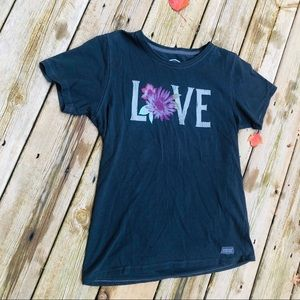 Life is Good Love T-shirt Printed Size M